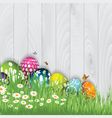 easter egg background 0603 vector image vector image