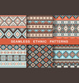 ethnic seamless patterns vector image vector image