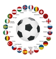 Euro 2016 France flags and groups vector image vector image