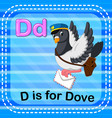 flashcard letter d is for dove vector image vector image