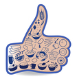 Food like social button vector image