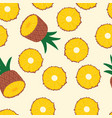 fruit seamless pattern pineapple halves vector image vector image