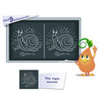 game find 9 differences snail vector image vector image