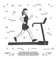 girl run on the treadmill machine vector image
