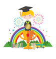 Graduation Student To Success Education Concept vector image vector image