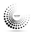 halftone black circle frame dots logo emblem vector image vector image