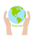 happy earth day vector image