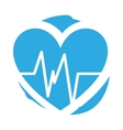 heart cardio pulse isolated icon vector image vector image