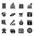 internet banking icons vector image vector image
