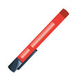 isolated study pen vector image vector image