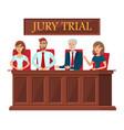 jury trial representatives flat banner template