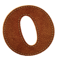 Leather textured letter O vector image vector image