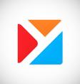 letter y square color logo vector image vector image
