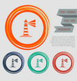 lighthouse icon on the red blue green orange vector image vector image