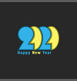 logo 2020 number and text happy new year vector image vector image