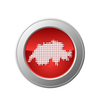 map of switzerland button vector image vector image
