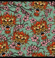 oriental traditional elements seamless pattern vector image