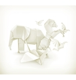Origami animals vector image vector image