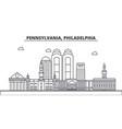 pennsylvania philadelphia architecture line vector image vector image