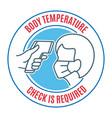 people body temperature control icon vector image vector image