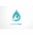 plumbing logo key tool water sewage water pipe fa vector image vector image