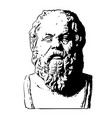 portrait of socrates vector image