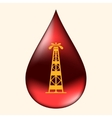 Rig in a drop of oil vector image