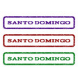 santo domingo watermark stamp vector image