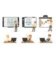 school children at informatics or programming vector image vector image