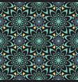 seamless color floral mandala pattern vector image vector image