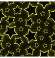Seamless neon stars background vector image vector image
