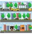 set of street concept design elements flat vector image vector image