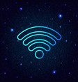sign wi-fi on a digital background vector image vector image