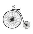 silhouette of vintage bicycle in black design vector image vector image