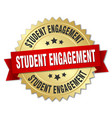 student engagement round isolated gold badge vector image vector image