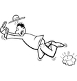 stumbling man coloring page vector image vector image