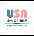 Stylish American Independence Day greeting vector image