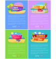 summer sale best discount set posters online pages vector image vector image