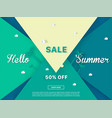 summer sale colorful background vector image vector image