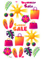 summer sale seamless pattern with colorful vector image
