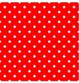 Tile pattern with white polka dots on red vector image vector image
