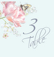 tulip butterfly number vector image vector image