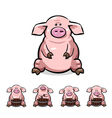 ute cartoon pigs set vector image vector image