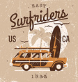 Vintage Surfriders vector image