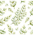 watercolor seamless pattern with horsetail vector image vector image
