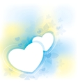 white hearts vector image vector image