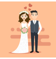 young happy newlyweds bride and groom Just married vector image vector image
