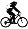 Young woman on a bike trip vector image