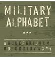 vintage military alphabet vector image
