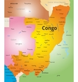 color map of Congo vector image